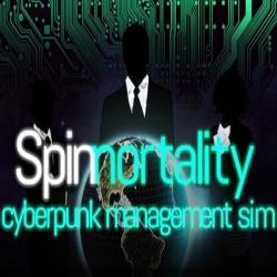 Spinnortality cyberpunk management sim